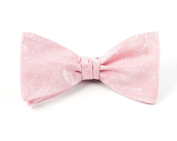 Twill Paisley Blush Pink Bow Tie