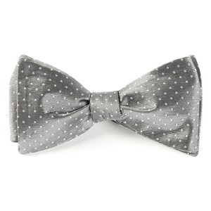 mini dots grey bow ties