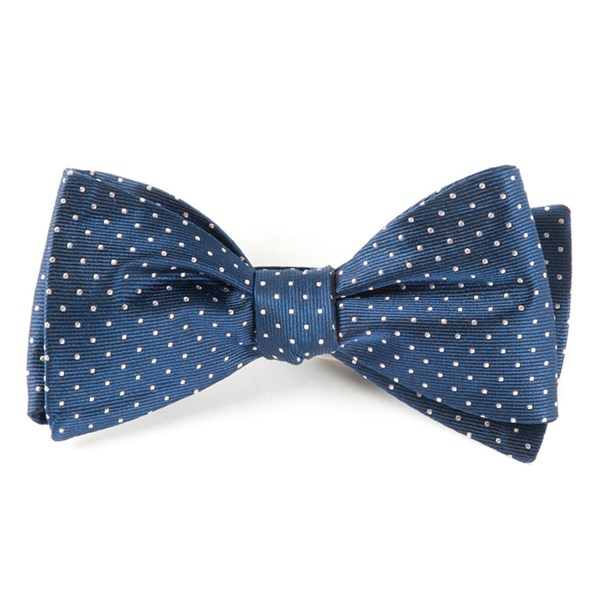 Classic Navy Mini Dots Bow Tie