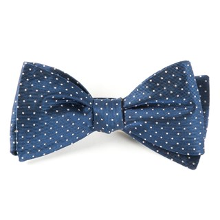 mini dots classic navy bow ties