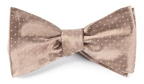 Bow Ties - Mini Dots - Champagne