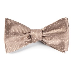Champagne Mini Dots bow ties