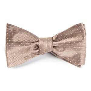 mini dots champagne bow ties