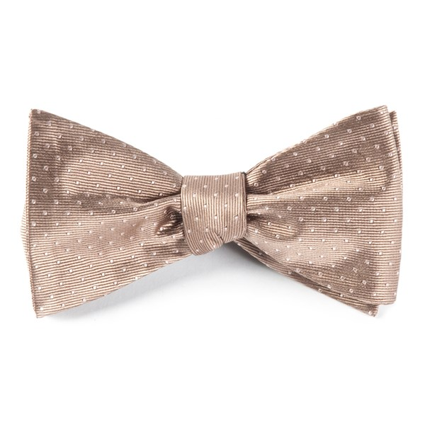 Champagne Mini Dots Bow Tie