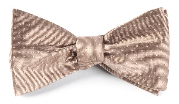 Mini Dots Champagne Bow Tie