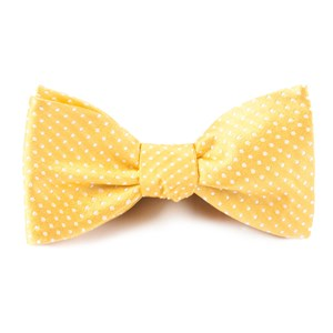 pindot gold bow ties