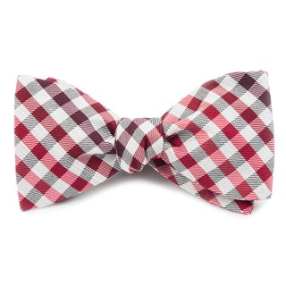 gibson check red bow ties