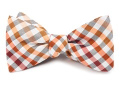 BOW TIES - GIBSON CHECK - ORANGE