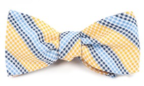 Bow Ties - GINGHAM STRIPES - Yellow