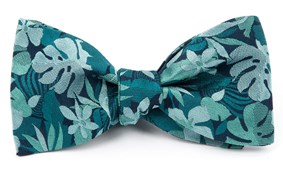Bow Ties - ISLAND FLORAL - Green Teal