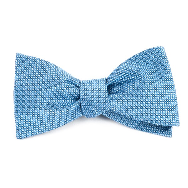 Light Blue Sideline Solid Bow Tie