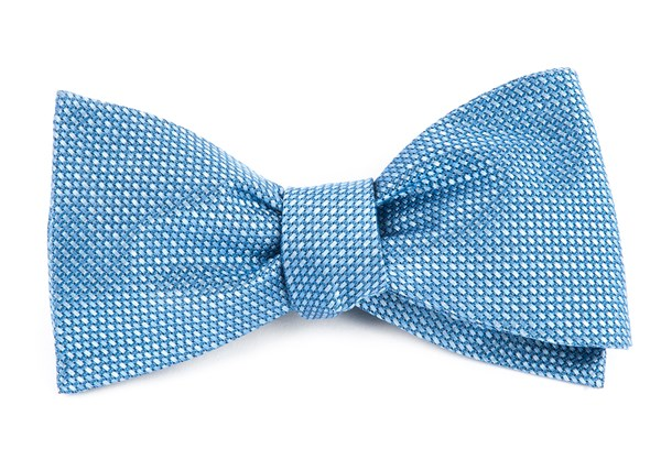 Sideline Solid Light Blue Bow Tie