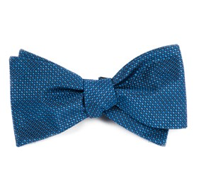 Sideline Solid Navy Bow Ties