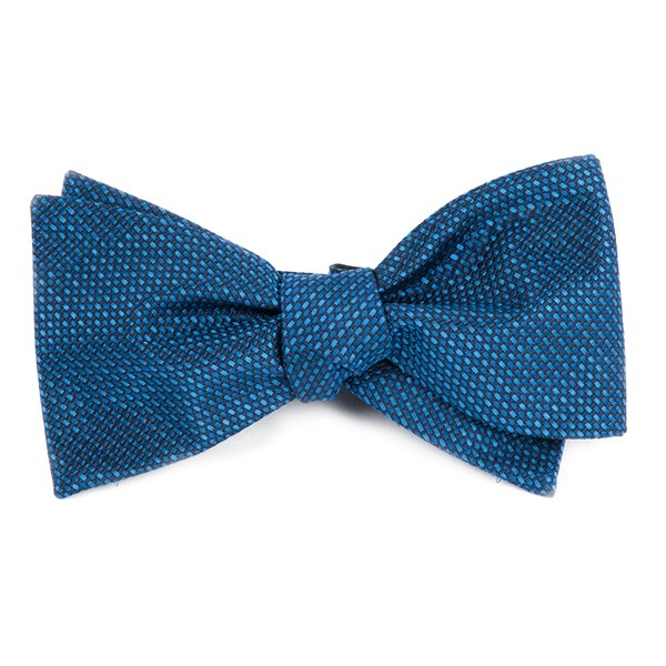 Navy Sideline Solid Bow Tie