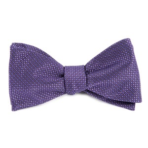 sideline solid plum bow ties