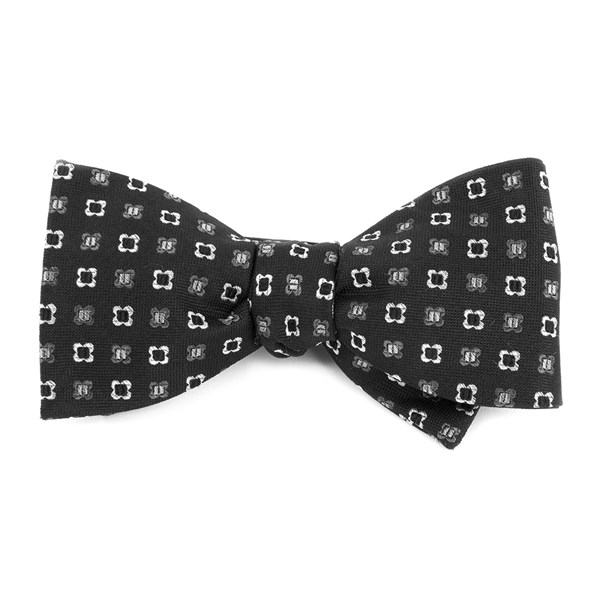 Black Steady Bloom Bow Tie