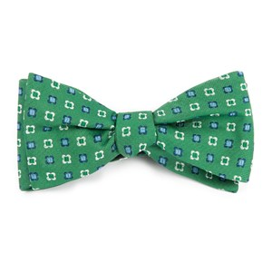 steady bloom kelly green bow ties