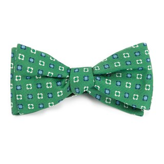 Steady Bloom Kelly Green Bow Tie