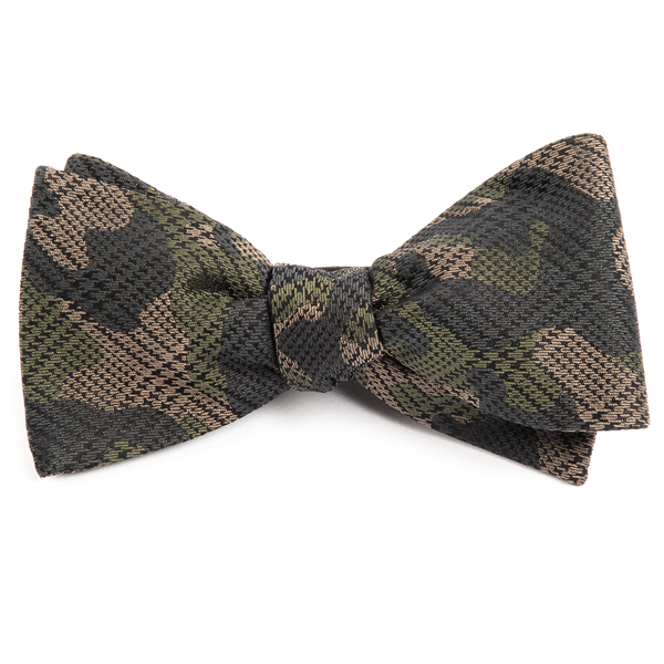 Moss Green Caliber Camo Bow Tie