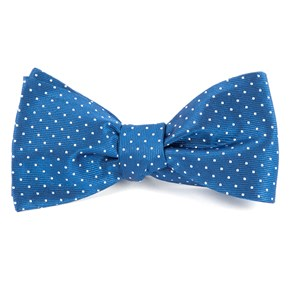 mini dots classic blue bow ties