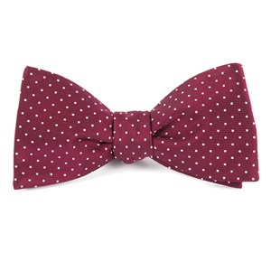 mini dots burgundy bow ties