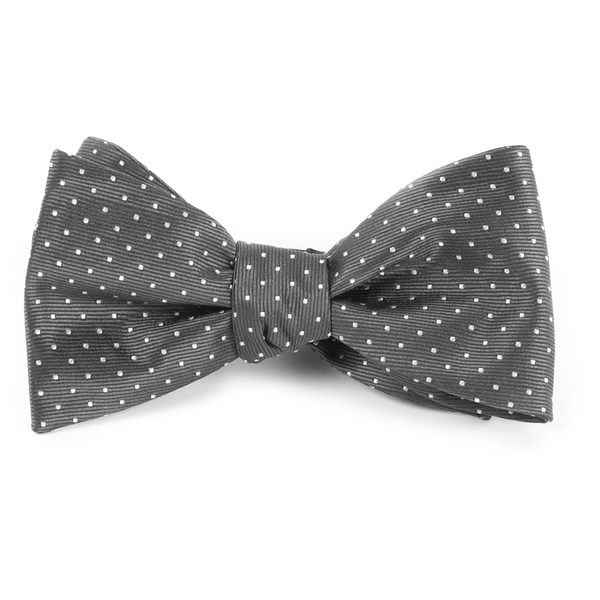 Charcoal Grey Mini Dots Bow Tie