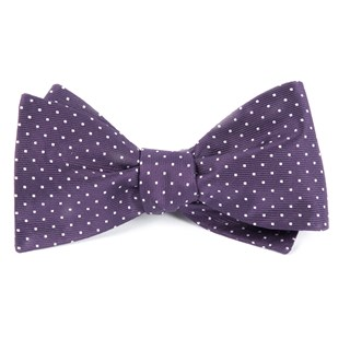 mini dots eggplant bow ties