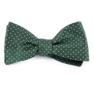 mini dots hunter green bow ties