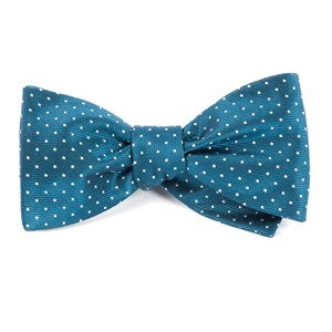 mini dots teal bow ties