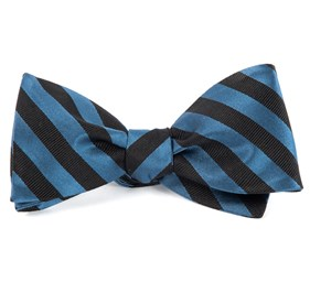 Twill Stripe Whale Blue Bow Ties