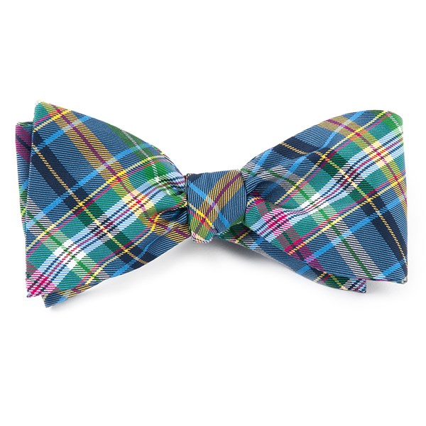 Periwinkle Corrigan Plaid Bow Tie
