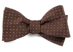 Bow Ties - Geo Glow - Chocolate Brown