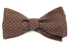 Bow Ties - Mini Dots - Chocolate Brown