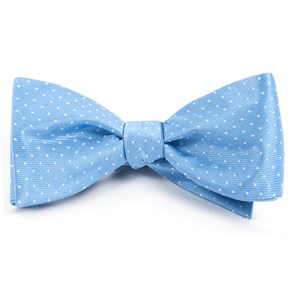 mini dots light blue bow ties