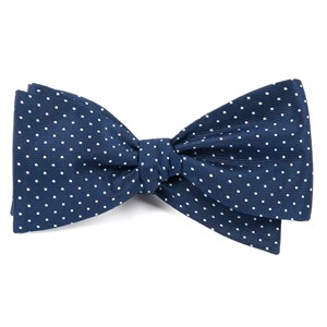 mini dots navy bow ties