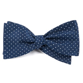 Mini Dots Navy Bow Tie
