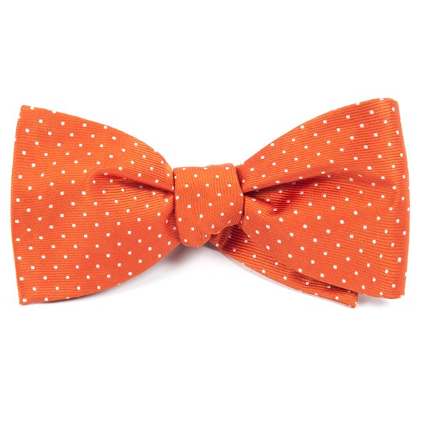 Orange Mini Dots Bow Tie