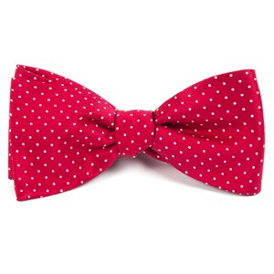 mini dots red bow ties