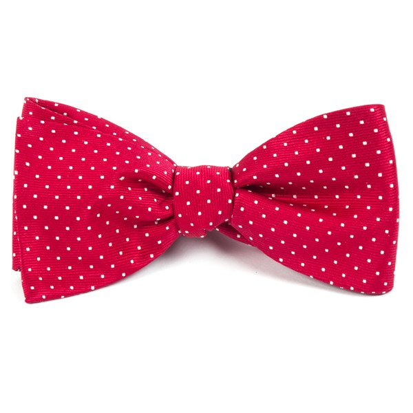 Red Mini Dots Bow Tie