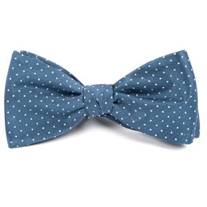 mini dots whale blue bow ties