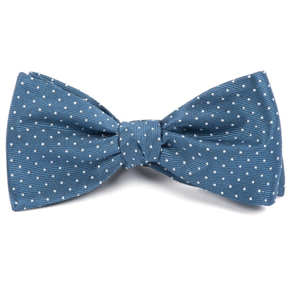 Whale Blue Mini Dots Bow Tie