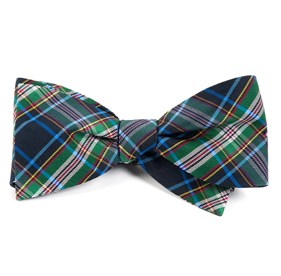Black Paramount Plaid bow ties