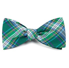 Green Paramount Plaid bow ties