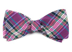 Bow Ties - Paramount Plaid - Magenta