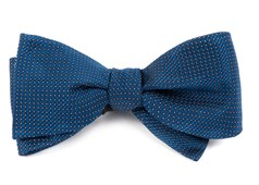 Bow Ties - Pinpoint - Navy