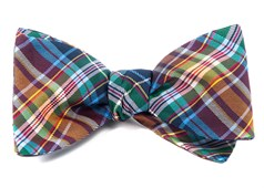 Bow Ties - West Village Plaid - Deep Burgundy