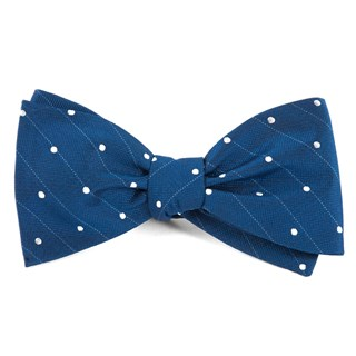 ringside dots classic blue bow ties