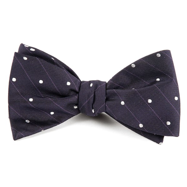 Eggplant Ringside Dots Bow Tie