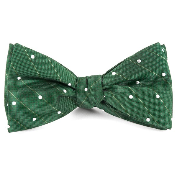 Grass Green Ringside Dots Bow Tie