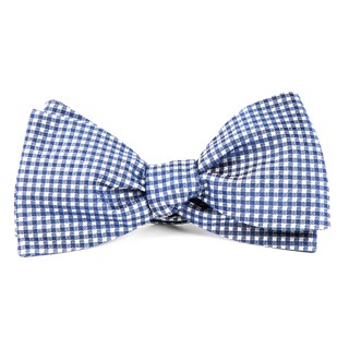 bahama checks classic blue bow ties